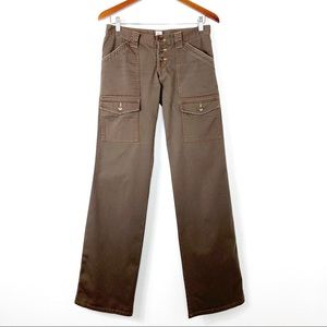 Joie Button Fly Cargo Boot Cut Jeans 27